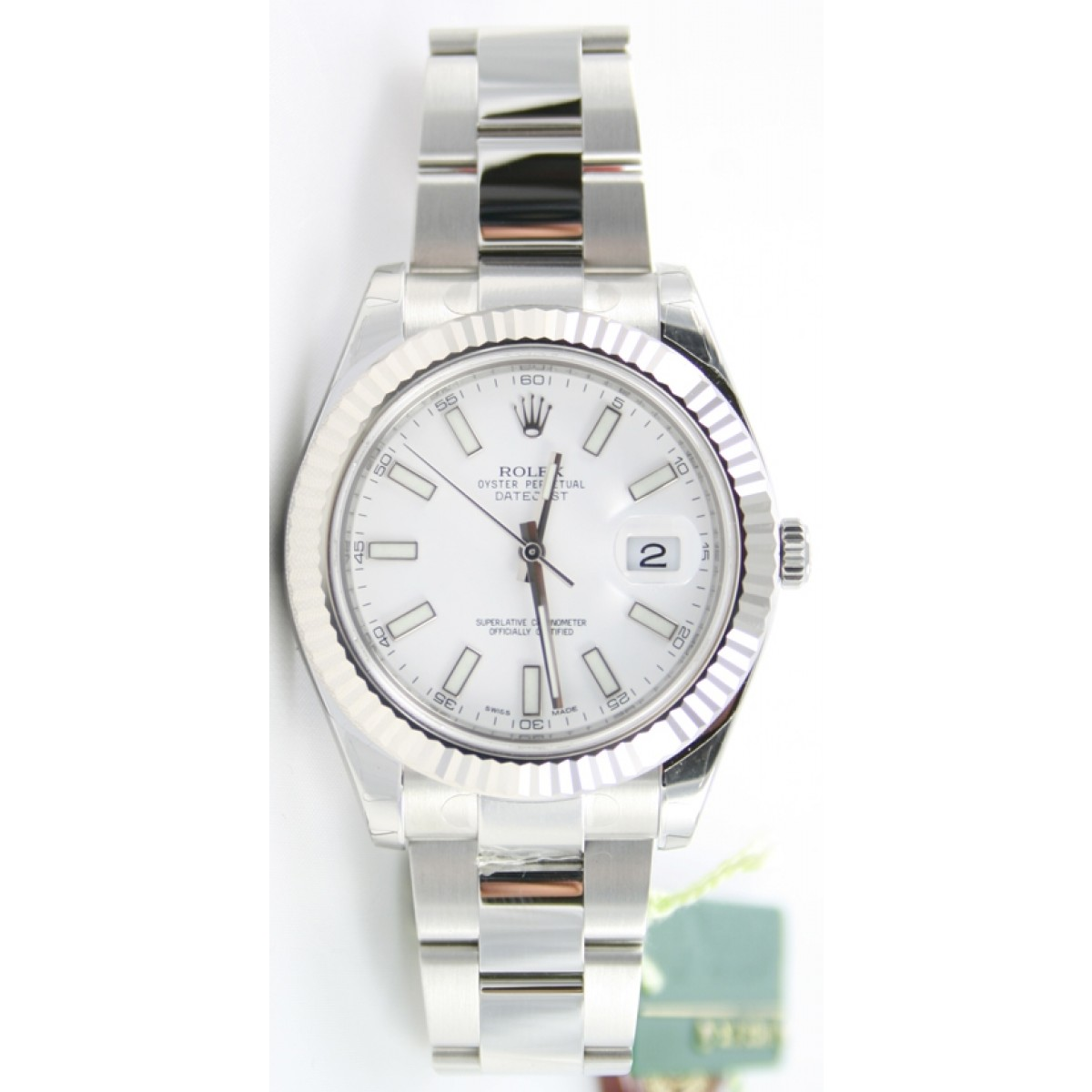 rolex datejust ii 116334 stainless steel oyster band white. Black Bedroom Furniture Sets. Home Design Ideas