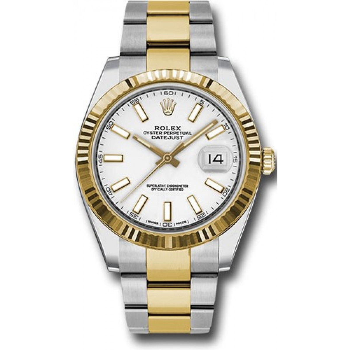 rolex datejust 41mm stainless steel and yellow gold 126333. Black Bedroom Furniture Sets. Home Design Ideas