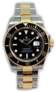 Rolex Submariner 116613 Heavy Band Black Cerachrom Bezel and Glidelock Band Most Current Model