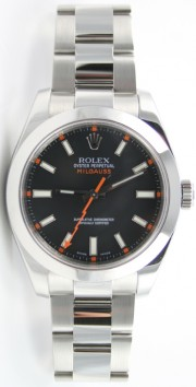 Rolex MILGAUSS Model 116400 Black Dial - Perfect Display Model