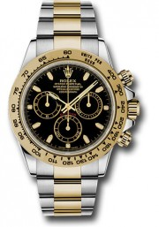 Rolex 40mm Daytona Model 116503 Stainless Steel & 18k Yellow Gold Oyster Band With A Black Index Dial UNUSED
