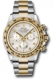 Rolex 40mm Daytona Model 116503 Stainless Steel & 18k Yellow Gold Oyster Band With A Mother Of Pearl Arabic Dial UNUSED