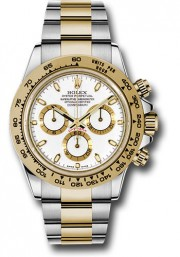 Rolex 40mm Daytona Model 116503 Stainless Steel & 18k Yellow Gold Oyster Band With A White Index Dial UNUSED