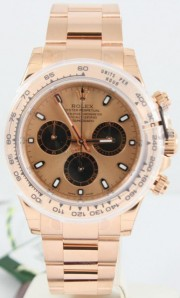 Rolex 40mm Daytona Watch Model 116505 18K Rose Gold Oyster Band With Rose Index Dial & Black Sub-Dials - UNUSED