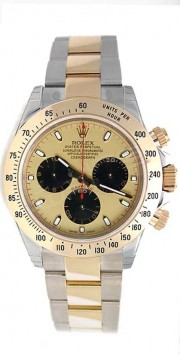 Rolex Daytona 116523 Stainless Steel & 18K Yellow Gold Paul Newman Champagne Dial W/Black Sub-Dials