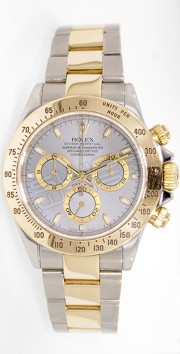 Rolex Daytona 116523 Stainless Steel & 18K Yellow Gold White Face Perfect Condition - 2000's