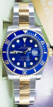 Rolex Submariner Steel & 18k Yellow Gold Model 116613 With A Blue Face Dial & Blue Ceramic Bezel - Unused