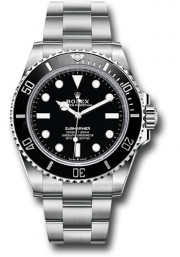Rolex 41mm No-Date Submariner Model 124060 Stainless Steel Watch Oyster Band Ceramic Bezel & Black Face 2020 Model - UNUSED