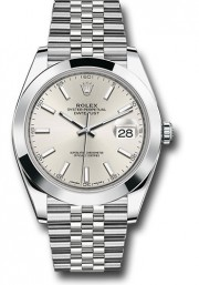Rolex Men's 41mm Datejust Ref 126300 Stainless Steel Jubilee Band Silver Index Dial & Smooth Bezel - Unused
