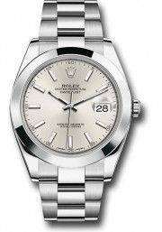 Rolex Men's 41mm Datejust Ref 126300 Stainless Steel Oyster Band Silver Index Dial & Smooth Bezel - Unused