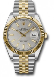 Never Worn- Rolex 41mm Mens Datejust II Stainless Steel & 18K Gold Jubilee Band Model 126333 Silver Index Dial & Fluted Bezel