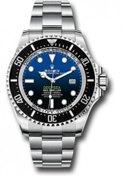 Rolex 44mm Men's DeepSea Sea-Dweller Stainless Steel New Style Oyster Band Model 126660 Black Ceramic Bezel Black & Blue Dial - UNUSED