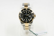 Rolex 43mm SeaDweller Model 126603 Stainless Steel & 18K Yellow Gold Watch Black Dial Black Ceramic Bezel UNUSED