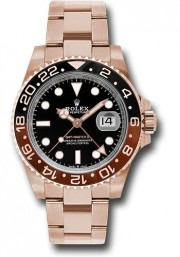Rolex GMT Master II Model 126715 Brown & Black Ceramic Bezel And A Black Dial - UNUSED
