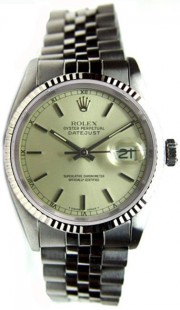 Like New Rolex Datejust Men's Stainless Steel Jubilee Band w/Silver Stick Marker Dial