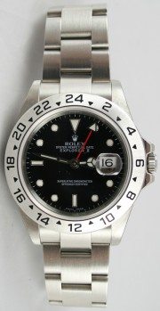 Rolex Explorer II 16570 Black Face Perfect Flawless Condition w/Solid End Links