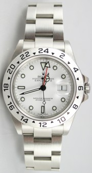 Rolex Explorer II 16570 White Face Perfect Flawless Condition w/Solid End Links