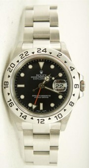 Rolex Explorer II 16570 Black Face No Holes Case
