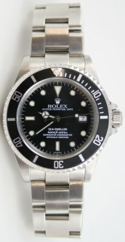 Rolex Sea-Dweller Stainless Steel Model 16600 with Solid End Links