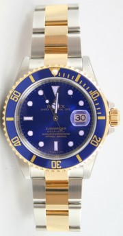 Rolex Submariner 16613 Stainless Steel & 18K Gold, Blue Face