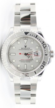 Rolex Yachtmaster 16622 Stainless Steel Platinum Bezel and Face Full-Size Model 2003 - 2005