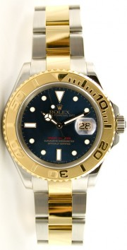 Rolex Yachtmaster 16623 Full-Size Men's Stainless Steel & 18K Yellow Gold Blue Face