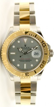 Rolex Yachtmaster 16623 Full-Size Men's Stainless Steel & 18K Yellow Gold Slate Face