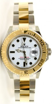 Rolex Yachtmaster 16623 Full-Size Men's Stainless Steel & Gold White Face - Unused