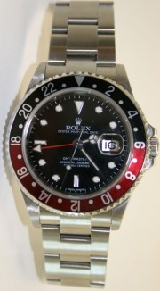 """Coke"" Rolex GMT Master II 16710 Classic Model with ""Black & Red Coke"" Bezel - No Holes Case"