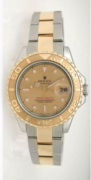 Rolex Yachtmaster 168623 Steel and Gold Mid-Size Champagne Face 2003