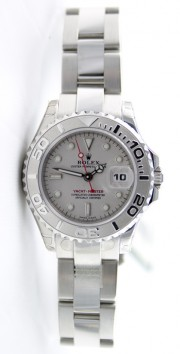 Rolex Yachtmaster 169622 Ladies Steel and Platinum Bezel & Face
