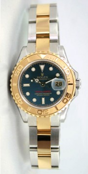Rolex Yachtmaster Model 169623 Ladies Stainless Steel & 18K Yellow Gold Blue Dial