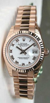 Rolex Presidential 179175 Ladies New Style Heavy 18K Rose Gold White Roman Face
