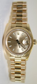 Rolex President 178278 Midsize 18K Yellow Gold New Style Heavy Model Champagne Index Face