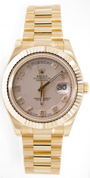 Rolex Day-Date II 218238 18K Yellow Gold 41MM Ivory Concentric Arabic Dial
