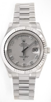 Rolex Day-Date II 218239 18K White Gold 41MM Ivory Concentric Arabic Numeral Dial
