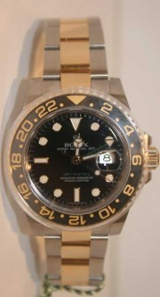 Rolex GMT Master II 116713 Ceramic Bezel Stainless Steel and 18K Gold Newest Model Ceramic Bezel