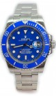 Rolex Submariner 116610 Heavy Band w/ Custom Blue Ceramic Bezel and Custom Blue Dial Most Current Model